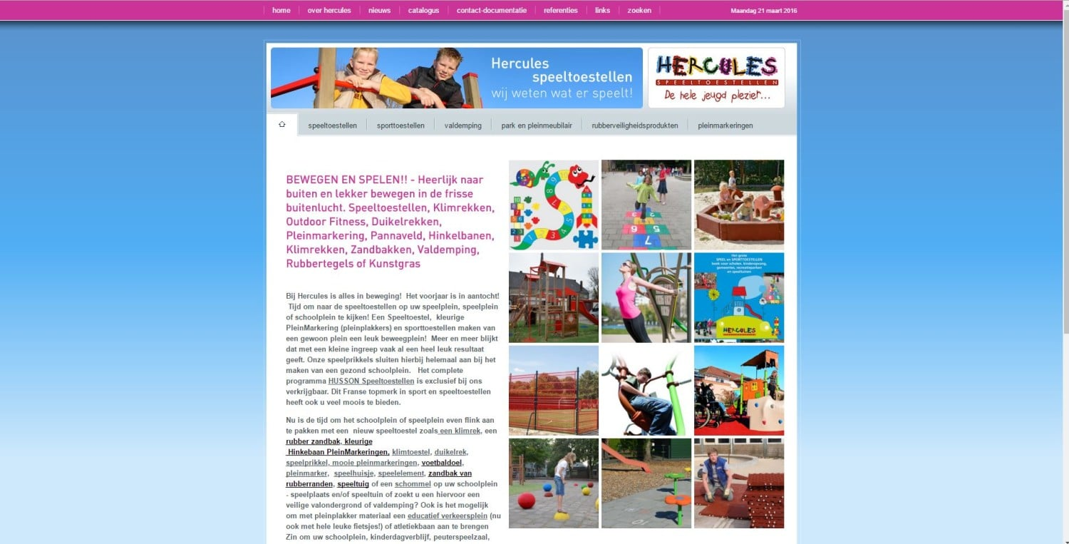 Herculesspeeltoestellen website